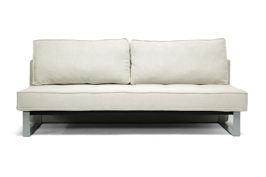 Shelby Linen Modern Sofa Bed