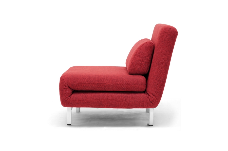 new modern red fabric convertible chair sleeper look ebay