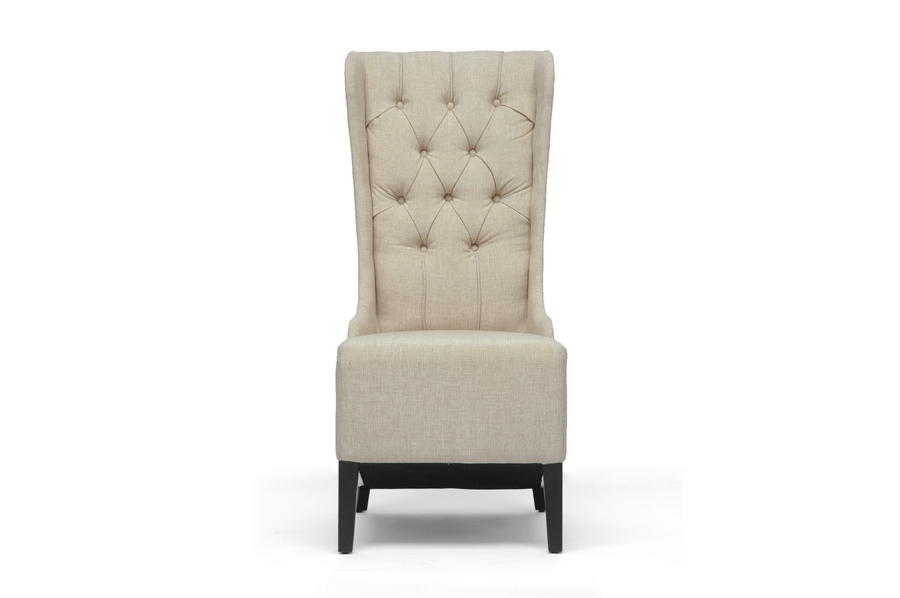 Vincent Beige Linen Modern Accent Chair | Wholesale Interiors