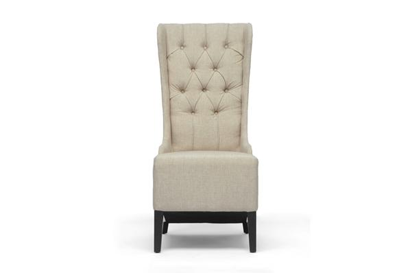 Vincent Beige Linen Modern Accent Chair | Wholesale Interiors