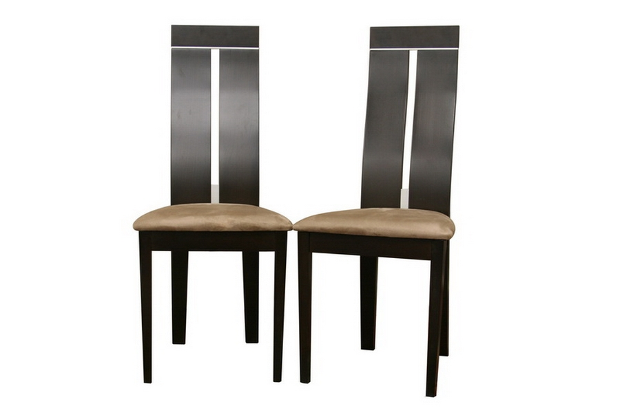 Magness Dark Brown Modern Dining Chair (Set of 2)