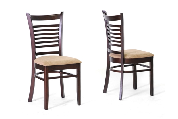 cathy brown wood modern dining chair set of 2