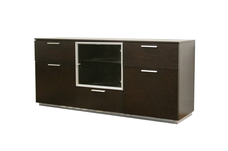 details about alysa dark brown modern wood buffet sideboard