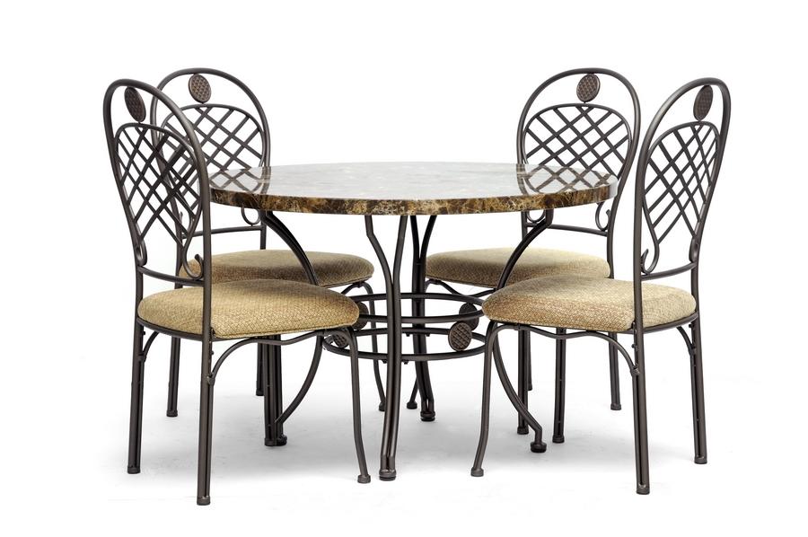 Hera Brown 5-Piece Modern Dining Set