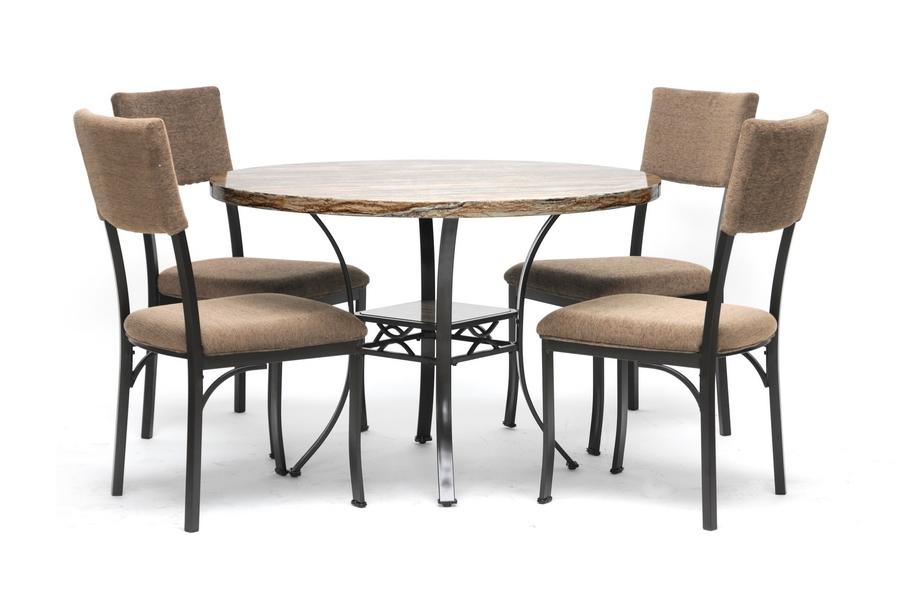 Rhea Brown 5-Piece Modern Dining Set