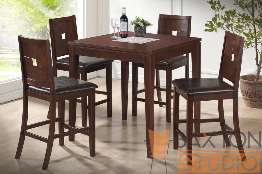 Table Set London Brown Wood