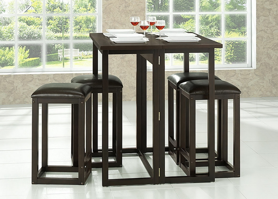 Table Set Leeds Brown Wood collapsable
