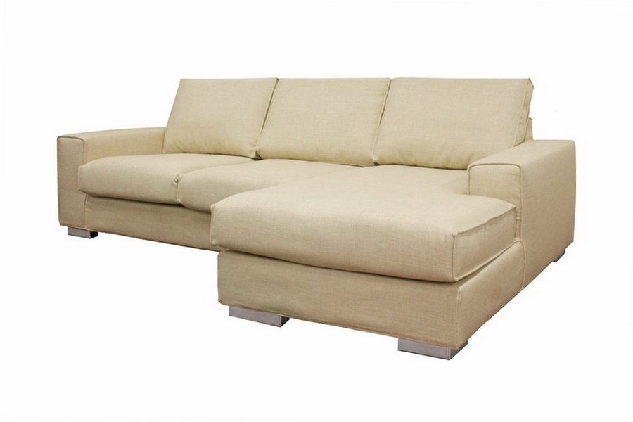 Campbell Cream Twill Modern Sectional Sofa