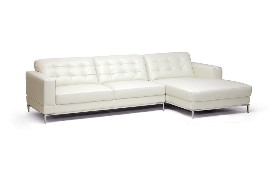 Babbitt Ivory Leather Sofa Chaise Sectional It Is Time