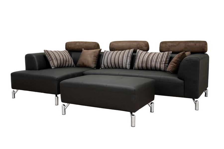 Sofa, Chaise & Ottoman Set-Short Version