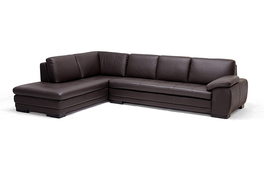 Diane dark brown sofa chaise sectional it is time to for Brown leather sectional chaise