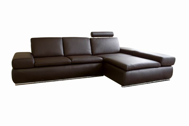 Champagne Daybed Dark Brown Leather