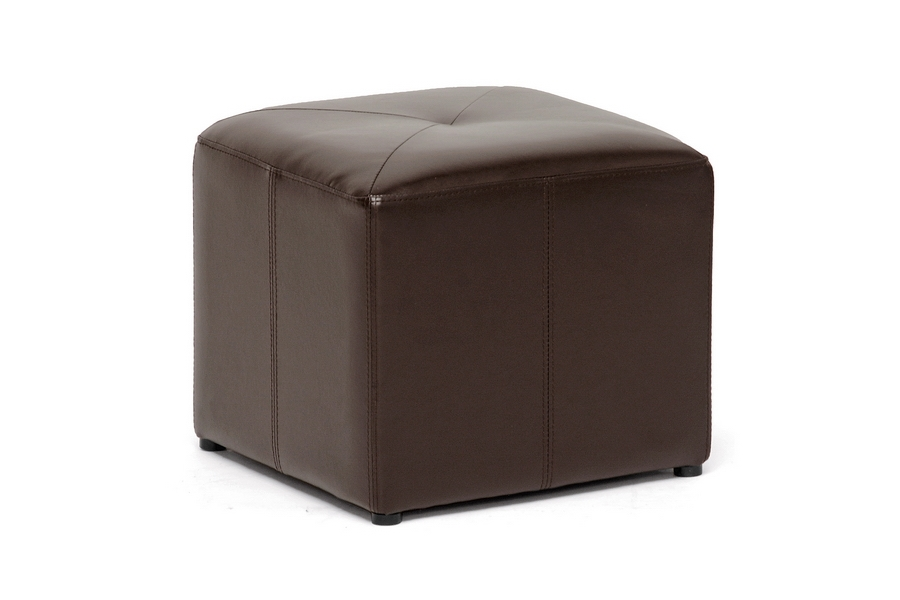 Aric Bonded Leather Ottoman