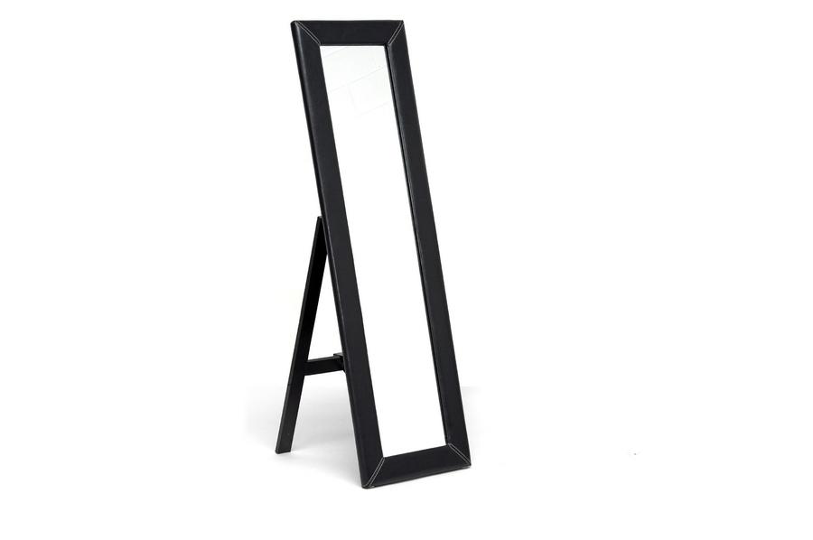 McLean Dark Brown Modern Mirror with Built-In Stand