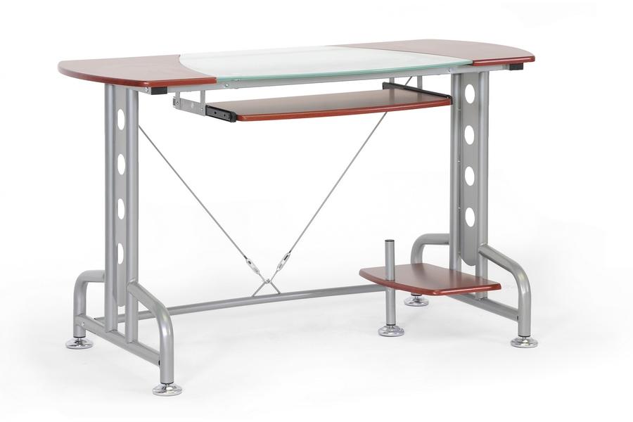 Dahan Cherry Modern Computer Desk with CPU Stand