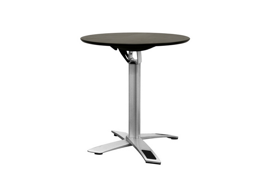 Yang Black / Silver Folding Event Table (Standard Height)