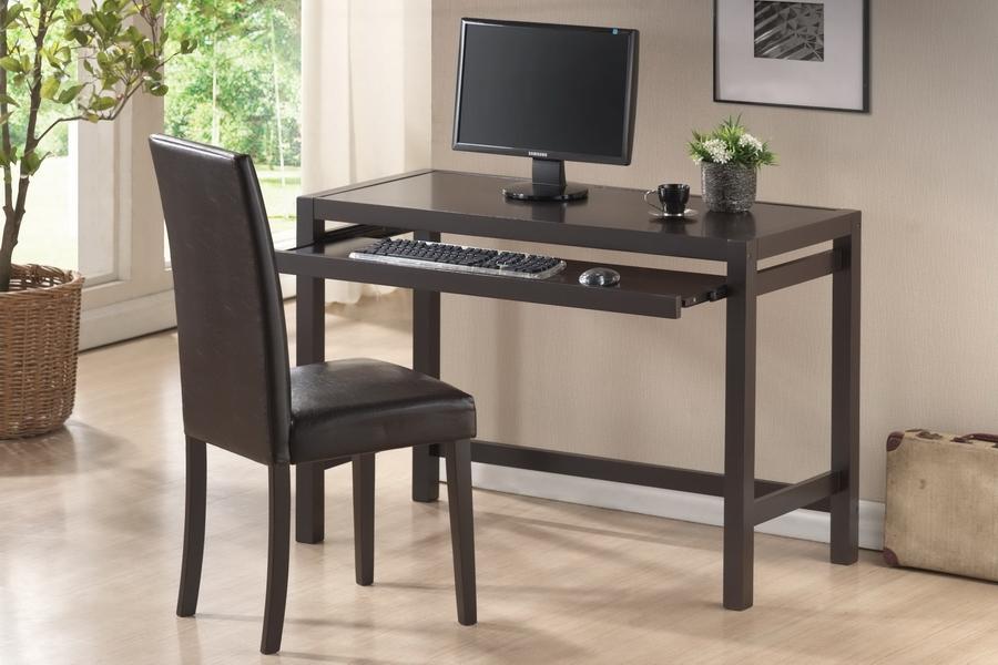 Astoria Dark Brown Modern Desk and Chair Set