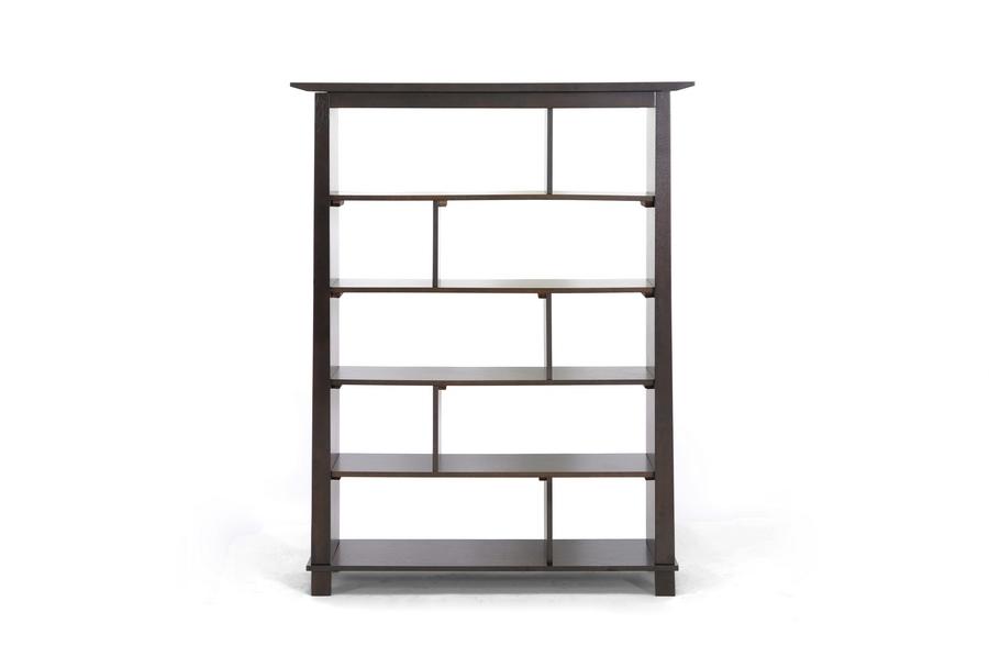 Havana Brown Wood Modern Bookcase (Tall)