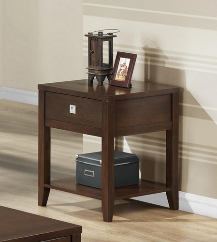 New Jersey Brown Wood Modern End Table Wholesale Interiors
