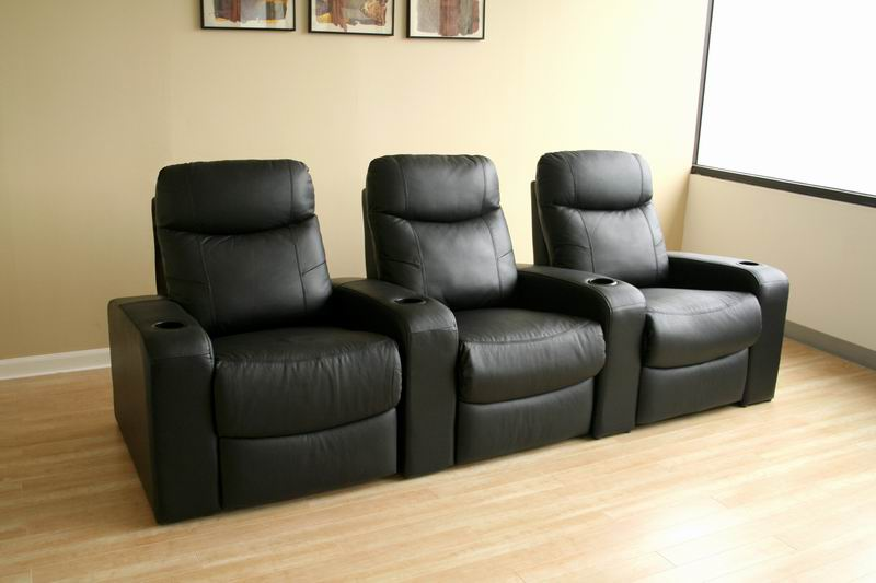 Cannes Home Theater Seats (3) Black