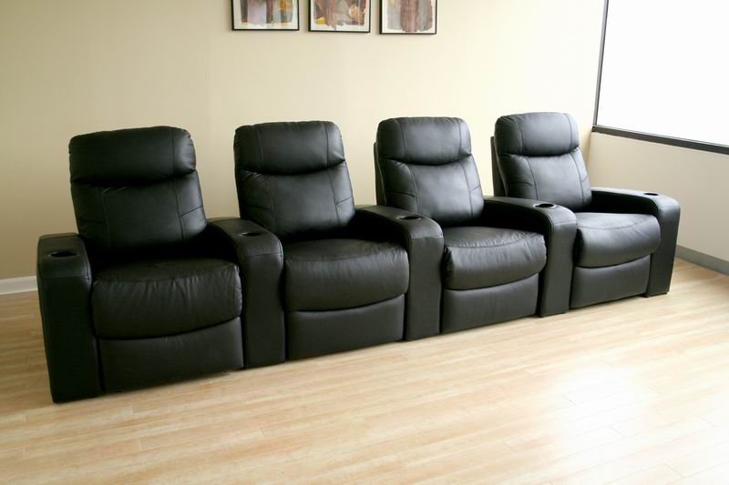 Cannes Home Theater Seats (4) Black