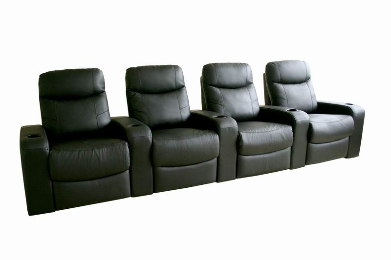 Home Theater Seating Recliner Movie Chairs 4 Seats Ebay