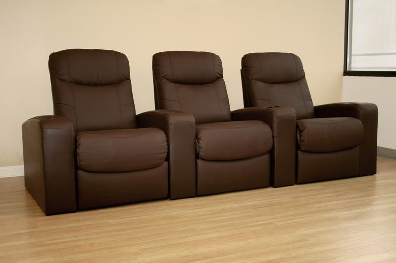 Cannes Home Theater Seats (3) Brown