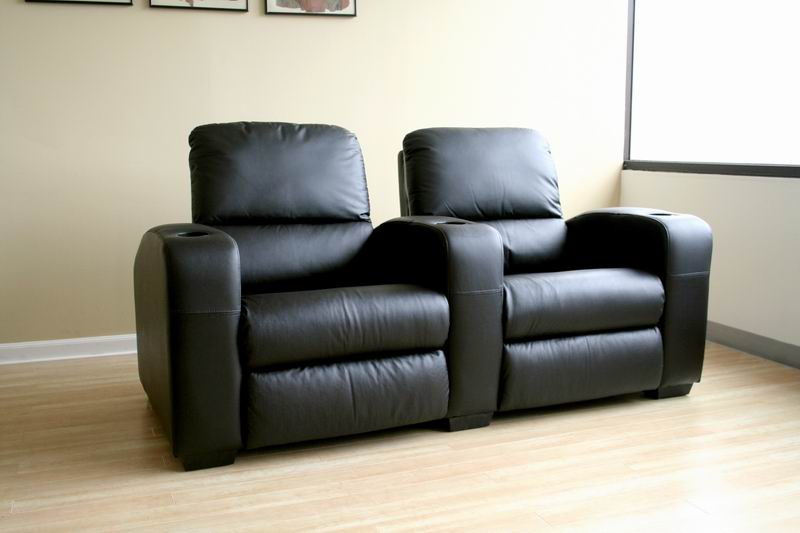 Row of 2 - Showtime Theatre Sectional - Black