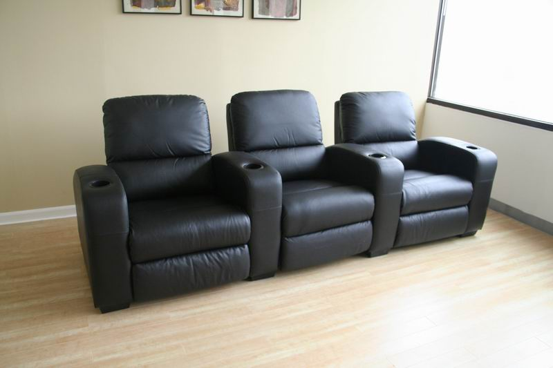 Row of 3 - Showtime Theatre Sectional - Black