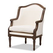 Baxton Studio Charlemagne Traditional French Accent Chair-