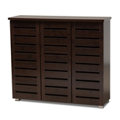 Baxton Studio Adalwin Modern and Contemporary 3-Door Dark Brown Wooden Entryway Shoes Storage Cabinet Baxton Studio Adalwin Modern and Contemporary 3-Door Dark Brown Wooden Entryway Shoes Storage Cabinet , wholesale furniture, restaurant furniture, hotel furniture, commercial furniture