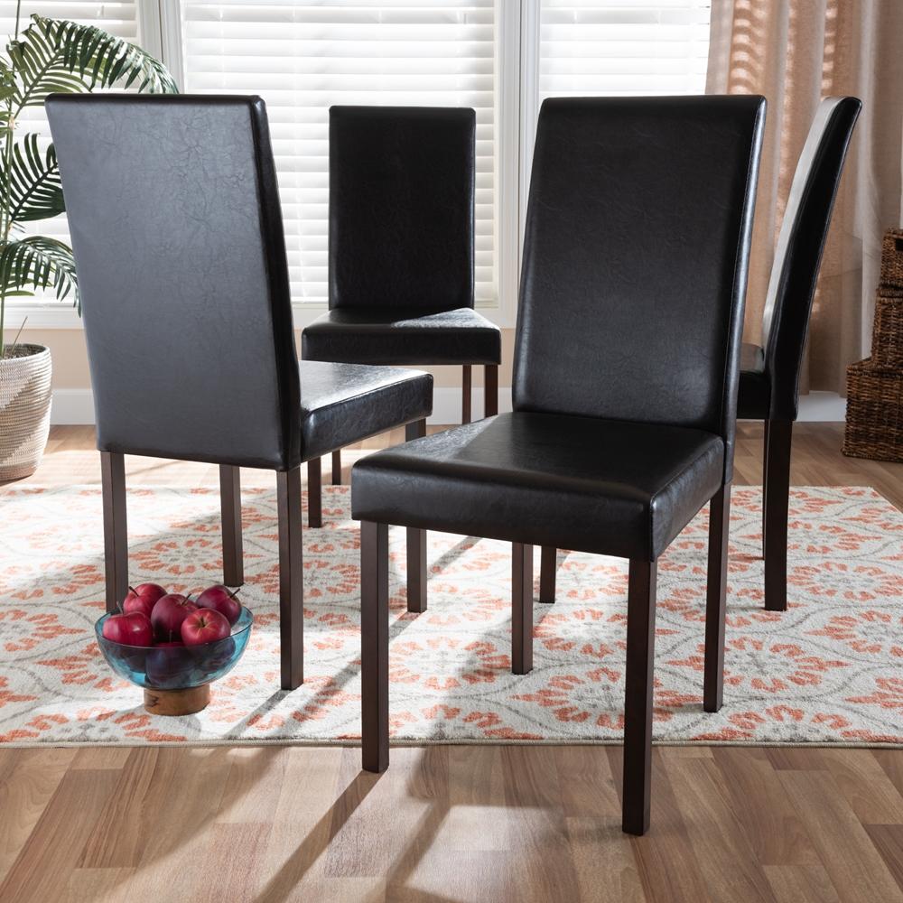Baxton Studio Andrew Modern Dining Chair Set Of 4