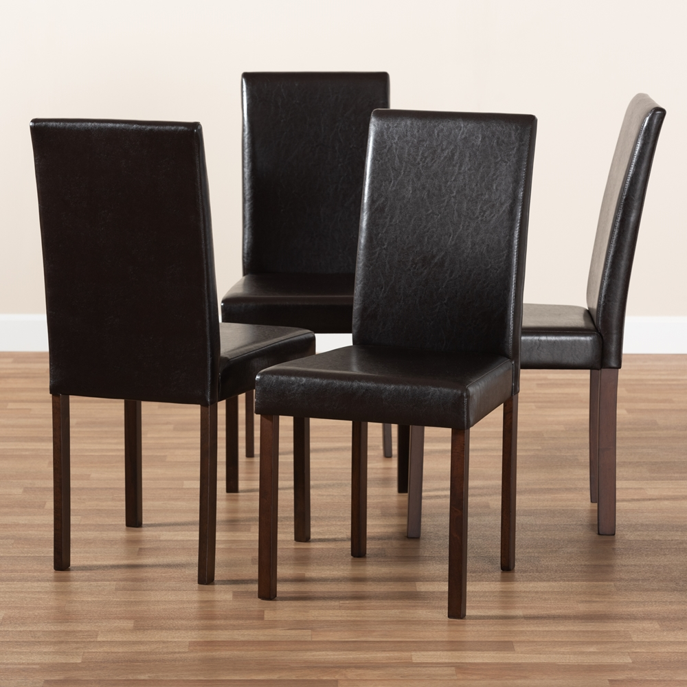 Baxton Studio Andrew Modern Dining Chair Set Of 4 Wholesale Interiors