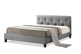 Baxton Studio Annette Gray Linen Modern Bed with Upholstered Headboard - Queen Size Baxton Studio Annette Gray Linen Modern Bed with Upholstered Headboard - Queen Size, wholesale furniture, restaurant furniture, hotel furniture, commercial furniture
