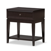 Baxton Studio Morgan Brown Modern Accent Table and Nightstand