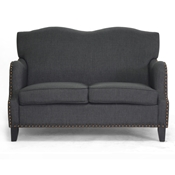 Baxton Studio Penzance Dark Gray Linen Loveseat Baxton Studio Penzance Dark Gray Linen Loveseat, wholesale furniture, restaurant furniture, hotel furniture, commercial furniture