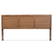 Baxton Studio Seren Mid-Century Modern Walnut Brown Finished Wood King Size Headboard - MG97093-Ash Walnut-HB-King