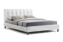 Baxton Studio Vino White Modern Bed with Upholstered Headboard - Full Size Baxton Studio Vino White Modern Bed with Upholstered Headboard - Full Size , wholesale furniture, restaurant furniture, hotel furniture, commercial furniture