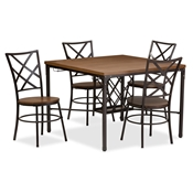 Baxton Studio Vintner Dining Set Baxton Studio Vintner Dining Set, wholesale furniture, restaurant furniture, hotel furniture, commercial furniture
