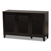 Baxton Studio Warren Espresso Shoe-Storage Cabinet Baxton Studio Warren Espresso Shoe-Storage Cabinet, wholesale furniture, restaurant furniture, hotel furniture, commercial furniture
