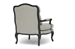 Baxton Studio Antoinette Classic Antiqued French Accent Chair - 52348-Beige