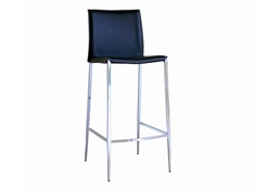 Baxton Studio Jenson Black Leather Bar Stool (Set of 2) Jenson Black Leather Bar Stool wholesale, wholesale furniture, restaurant furniture, hotel furniture, commercial furniture