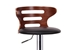 Baxton Studio Buell Walnut and Black Modern Bar Stool - SD-2019-walnut/black-PSTL
