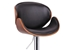 Baxton Studio Crocus Walnut and Black Modern Bar Stool - SD-2203-walnut/black-PSTL