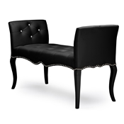 Baxton Studio Kristy Modern and Contemporary Black Faux Leather Classic Seating Bench Baxton Studio Kristy Modern and Contemporary Black Faux Leather Classic Seating Bench , wholesale furniture, restaurant furniture, hotel furniture, commercial furniture