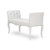 Baxton Studio Kristy Modern and Contemporary White Faux Leather Classic Seating Bench Baxton Studio Kristy Modern and Contemporary White Faux Leather Classic Seating Bench , wholesale furniture, restaurant furniture, hotel furniture, commercial furniture