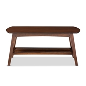 Baxton Studio Sacramento Mid-century Modern Scandinavian Style Dark Walnut Coffee Table