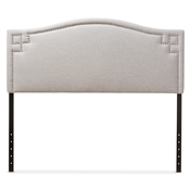 Baxton Studio Aubrey Modern and Contemporary Greyish Beige Fabric Upholstered Queen Size Headboard