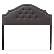 Baxton Studio Cora Modern and Contemporary Dark Grey Fabric Upholstered King Size Headboard