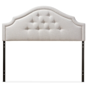 Baxton Studio Cora Modern and Contemporary Greyish Beige Fabric Upholstered King Size Headboard